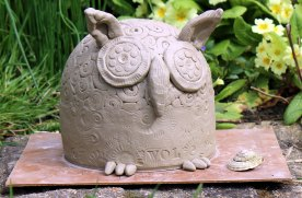 Owl Before Firing in Kiln © Jan Lane