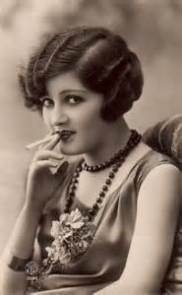 Flapper Girl Smoking