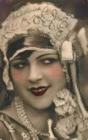 Flapper Girl With Make Up On